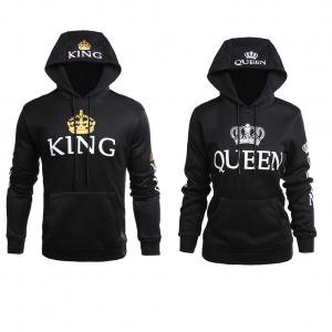 Fancyleo Ladies and Gents Couples King Queen Pullover Hoodie Couples