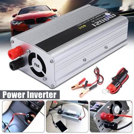 1200W Car AutoTruck Power Inverter DC 12V To AC 110v Converter Sine