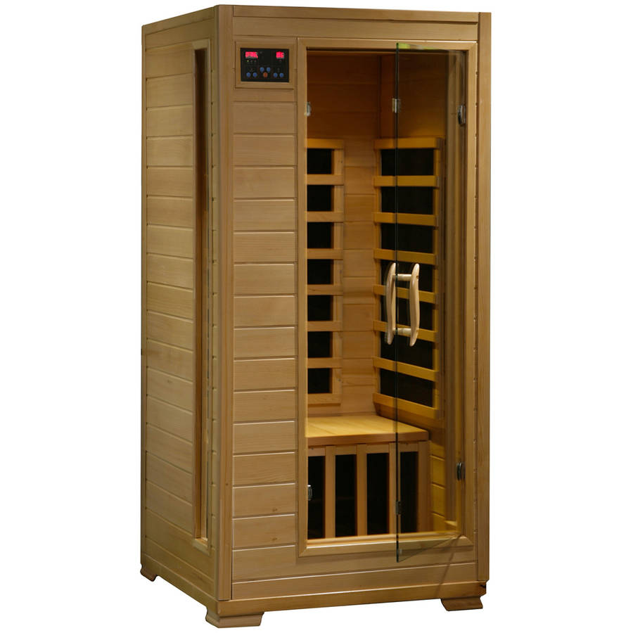 Radiant Saunas 1- to 2-Person Hemlock Infrared Sauna with 4 Carbon Heaters