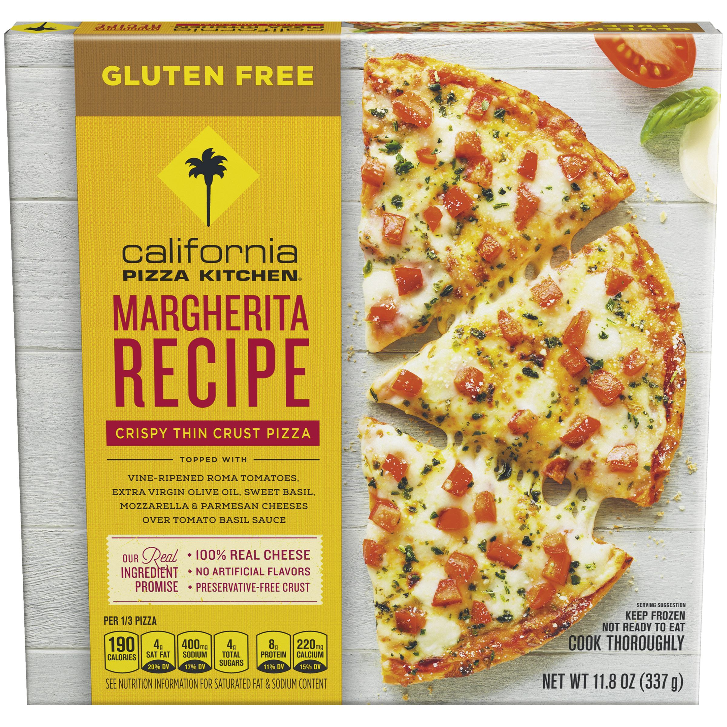CALIFORNIA PIZZA KITCHEN Gluten Free Margherita Recipe Crispy Thin Frozen  Pizza 11.8 Oz. Box Pictures Gallery
