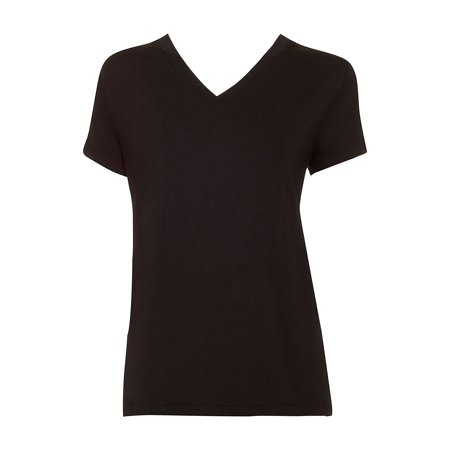 Short-Sleeve Cotton Blend Pajama Top (Top 10 Richest Black Woman In The World)