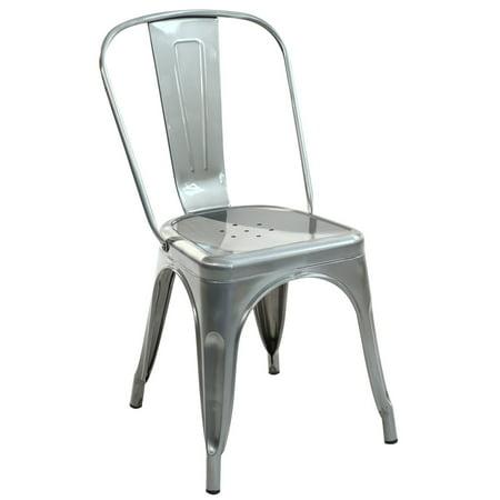 Trattoria Side Chair in Polished Gunmetal ()