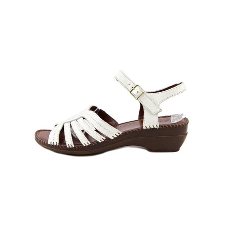 294fc90e70fc Auditions Womens Rumba Leather Open Toe Casual Ankle Strap Sandals -  Walmart.com