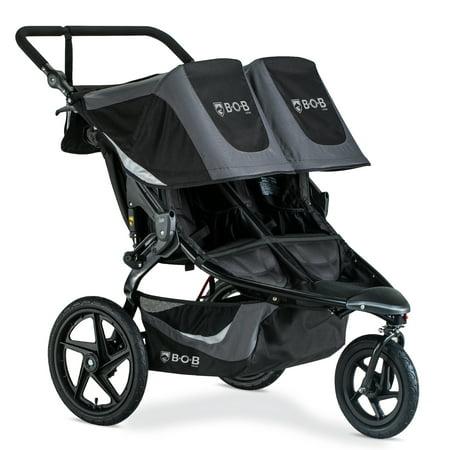 BOB Gear® Revolution® Flex 3.0 Duallie Jogging Stroller, Graphite Black Used Double Jogging Stroller