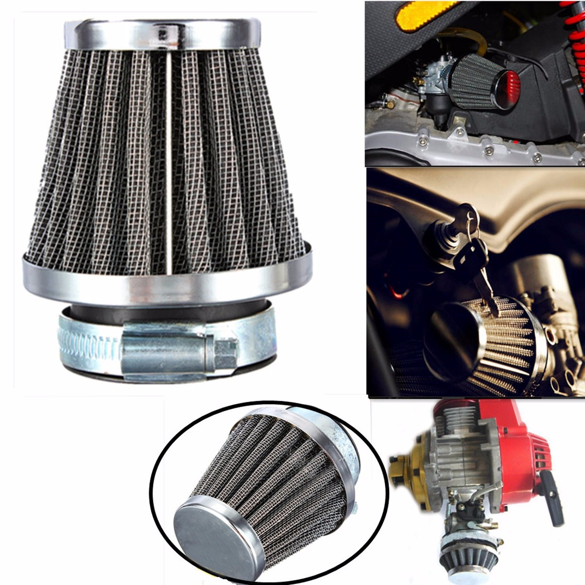 Motorcycle Air Filter Universal 35mm Air Filters Green for Honda CB 250 N R S CB400 N Kawasaki KZ250 A A1 A2 A3 B B1 B2 GPZ 305 Suzuki GS250 T E GS450 GSX 250 Yamaha DT250 MX XS250 SE XS400