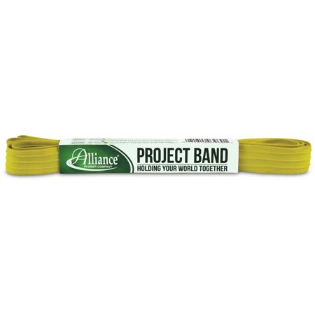 """Image of Alliance Rubber Project Band, 1 Extra Large 84"""" Industrial Strength Heavy Duty Rubber Band (84"""" x 1"""" x 1/16"""", Yellow)"""