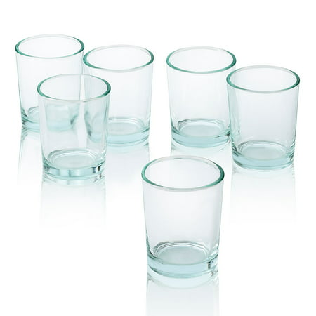 - Clear Glass Round Votive Candle Holders Set of 12