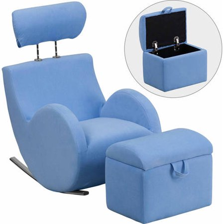 Flash Furniture HERCULES Series Fabric Rocking Chair with Storage Ottoman,  Multiple Colors - Walmart.com - Flash Furniture HERCULES Series Fabric Rocking Chair With Storage