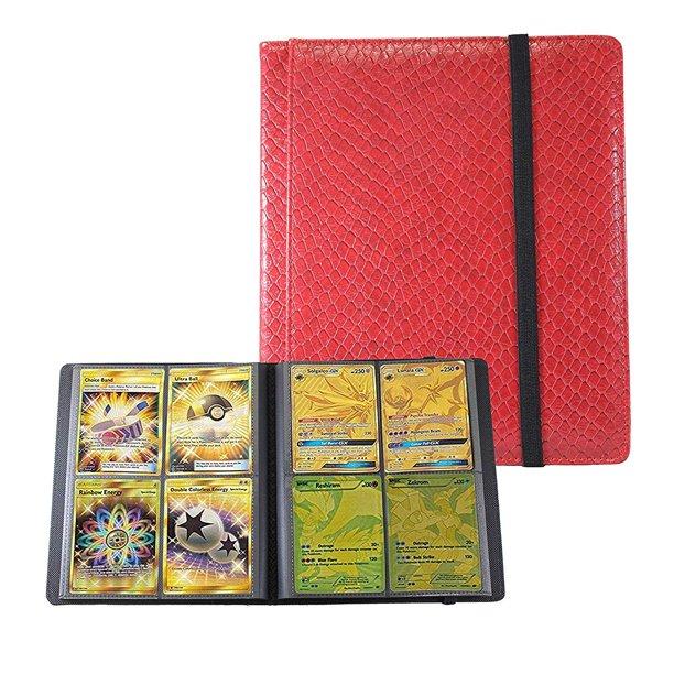 Totem World 4 Pocket Binder Dragonhide Red For Standard