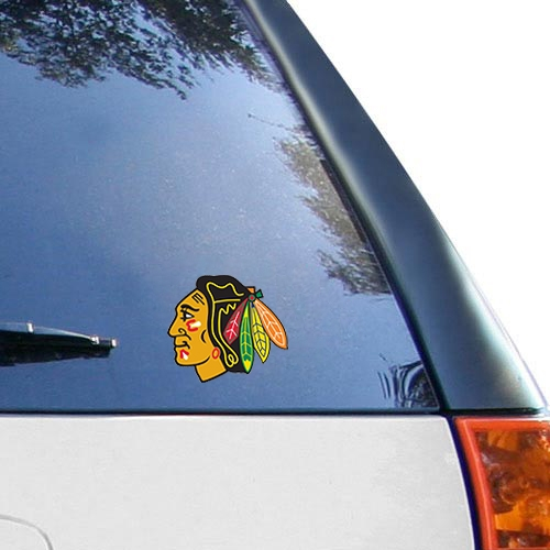 "Chicago Blackhawks WinCraft 5"" x 6"" Multi Use Primary Logo Decal - No Size"