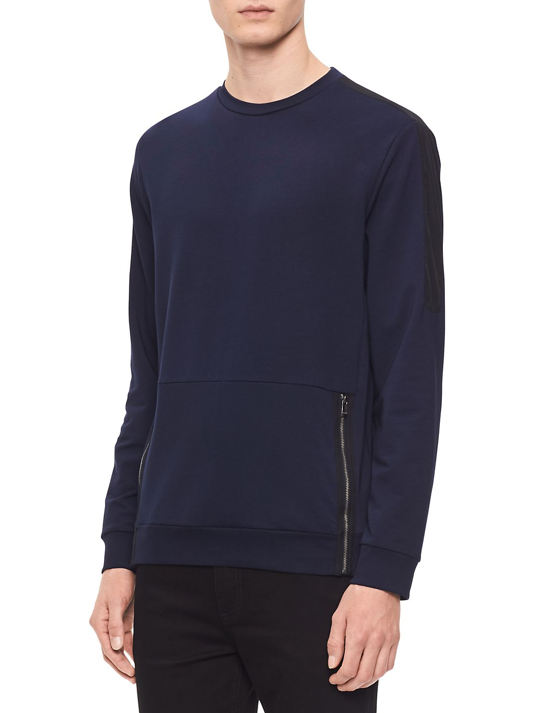 Long-Sleeve Side-Zip Pullover