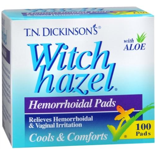 Dickinson's Witch Hazel Hemorrhoidal Pads 100 Each (Pack of 3)