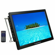 """Trexonic Portable Rechargeable 14"""" LED TV with HDMI, SD/MMC, USB, VGA, AV In/Out and Built-in Digital Tuner Reconditioned"""