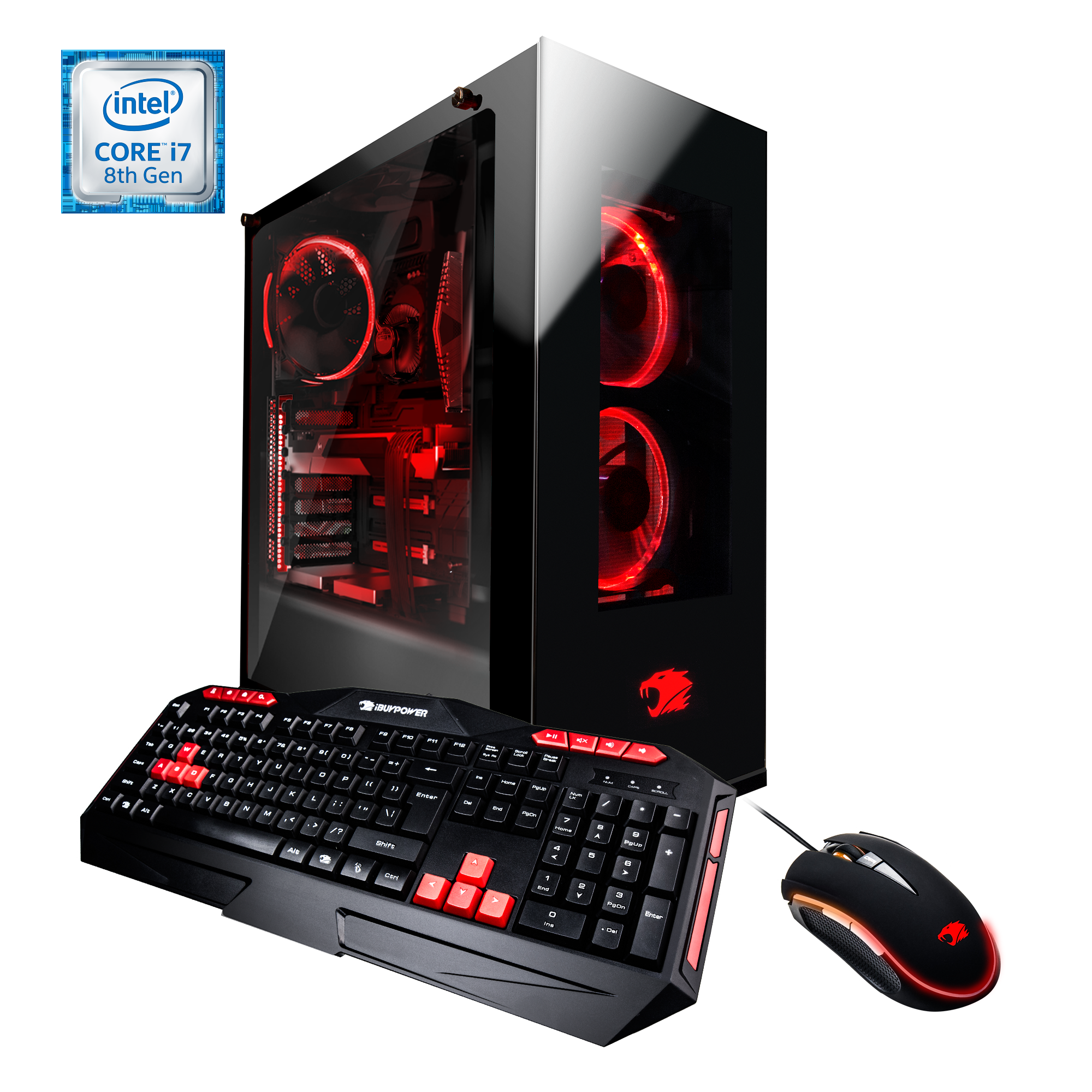 iBUYPOWER WA8420i - Gaming Desktop PC - Intel i7-8700k - 16GB DDR4 Memory - NVIDIA GeForce GTX1070 8GB - 1TB Hard Drive - 240GB SSD - Wi-Fi - Window 10 Home 64bit(Monitor Not Included) - WA8420i
