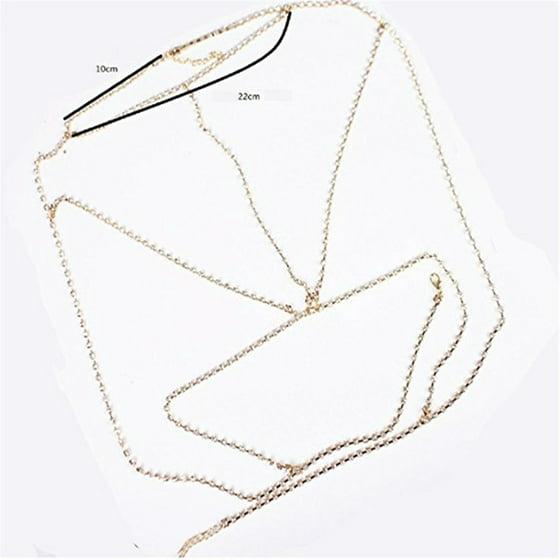 d772f7bad0c Redcolourful - Sexy Gothic Bra Body Chain Diamond Underwear Necklace Summer  Beach Body Jewelry Gold - Walmart.com