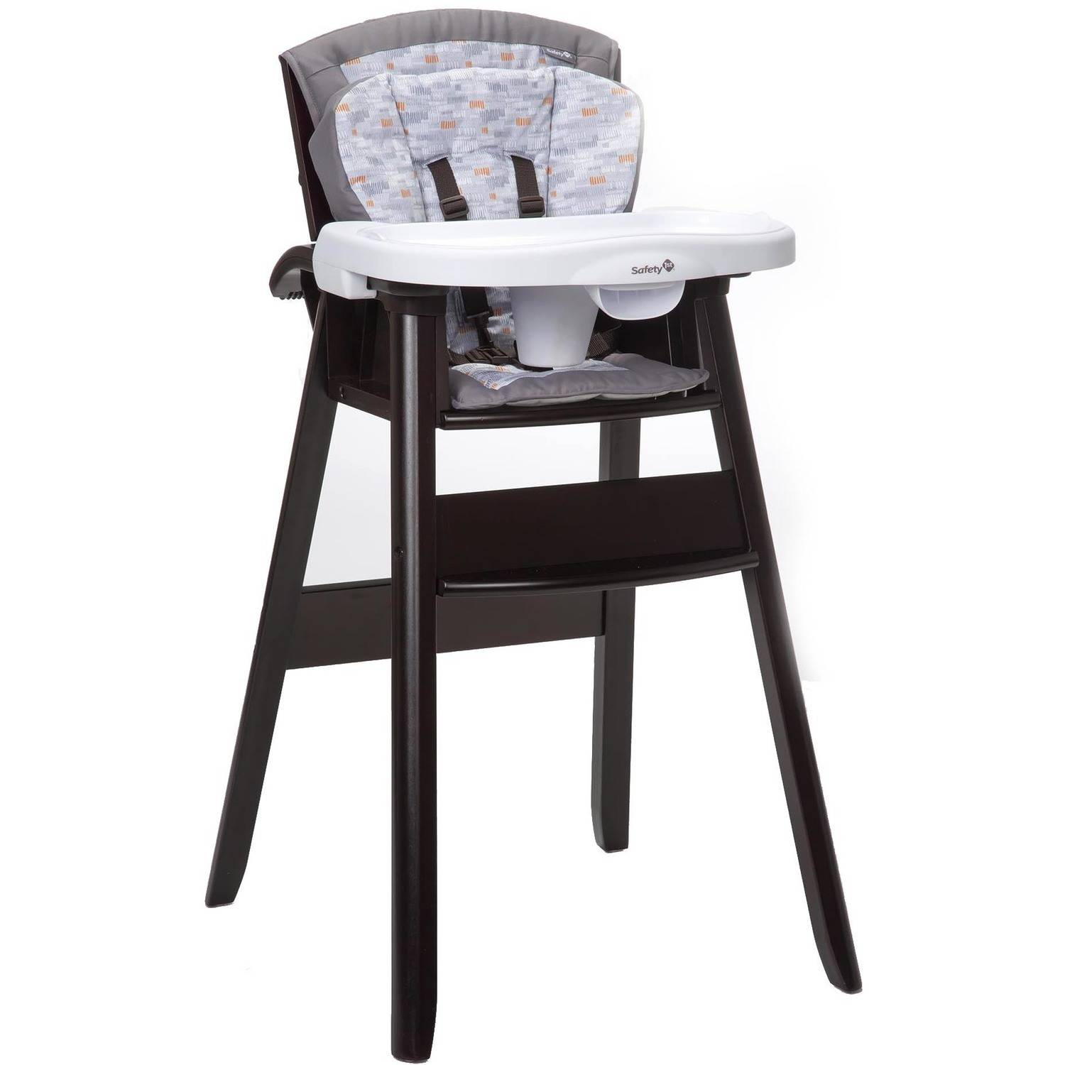 Safety 1st Dine and Recline Wood High Chair, Titanium