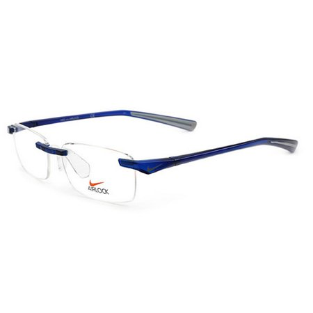 79a4cf2002 Nike - Nike Eyeglasses 7100 414 Crystal Team Royal Blue Rimless Frames -  Walmart.com