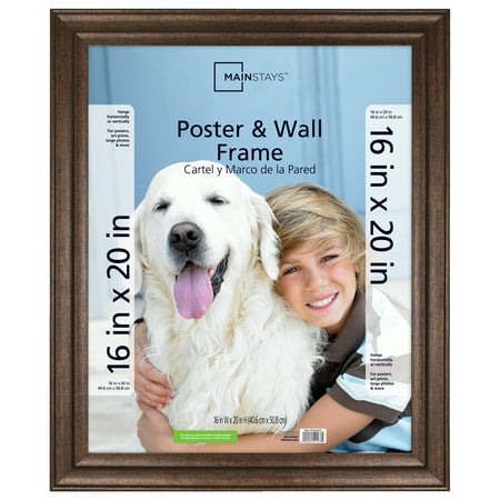 Mainstays 16x20 Wide Bronze Poster and Picture Frame