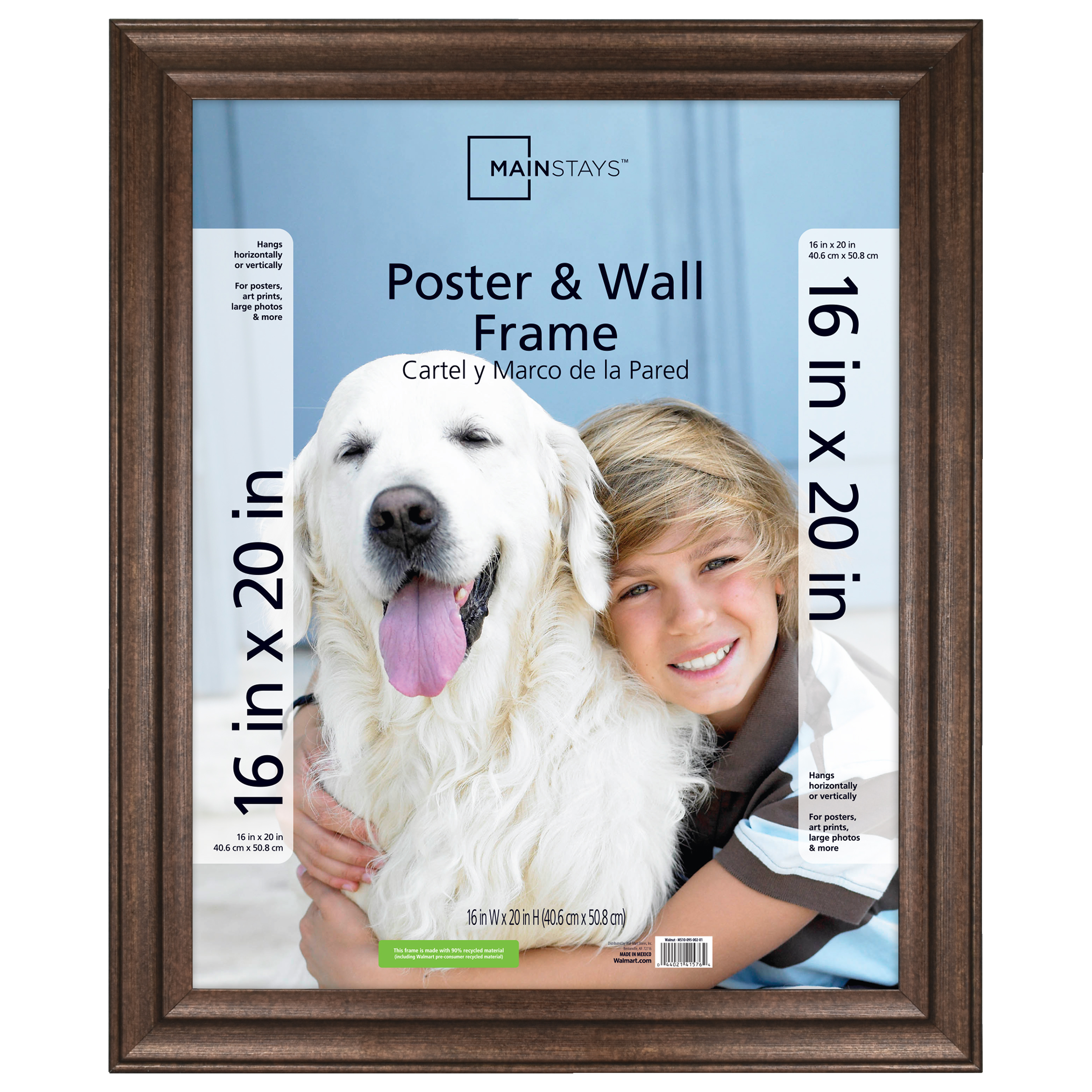 """Mainstays 16"""" x 20"""" Casual Bronze Poster Frame"""
