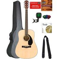 Fender CD-60S Solid Top Dreadnought Acoustic Guitar - Natural w/ Gig Bag