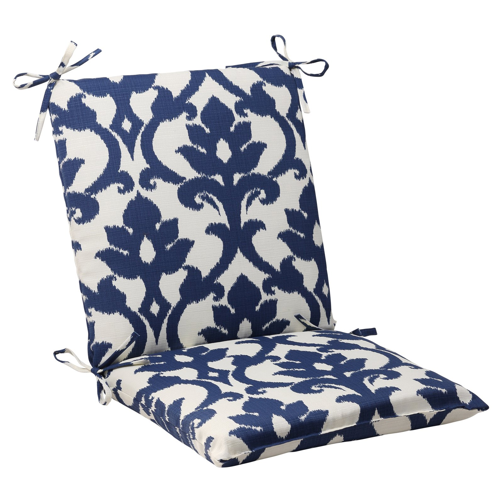Phenomenal Pillow Perfect Outdoor Indoor Bosco Navy Squared Corners Chair Cushion Ibusinesslaw Wood Chair Design Ideas Ibusinesslaworg