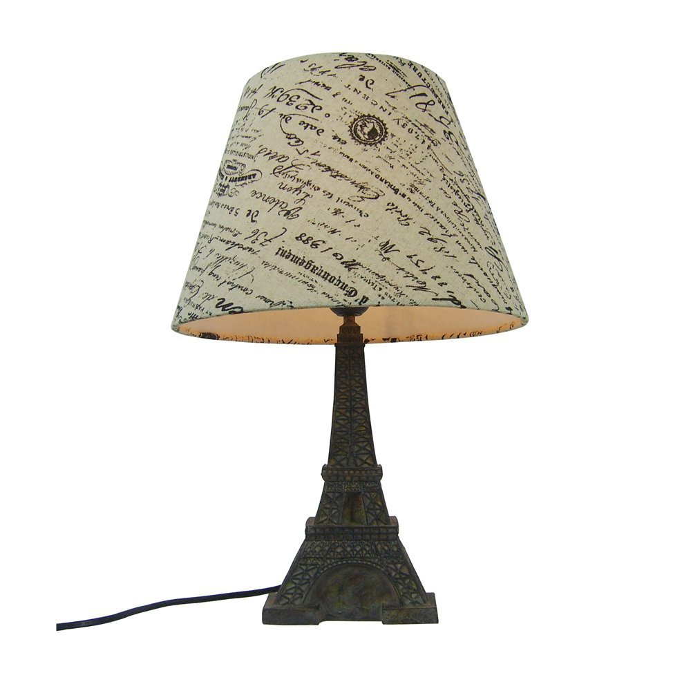 Simple Designs LT3010-BSL Eiffel Tower Lamp with Printed ...