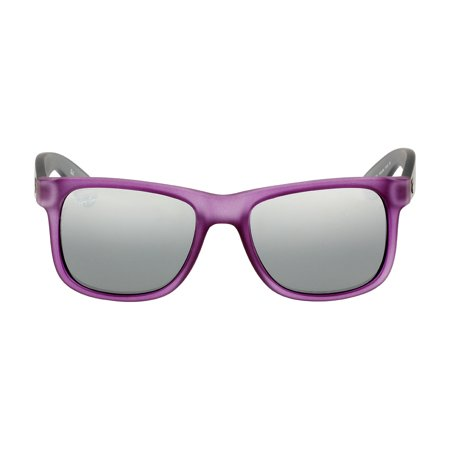 Ray-Ban Justin Nylon Frame Silver Mirror Gradient Lens Unisex Sunglasses (Womens Purple Oakley Sunglasses)