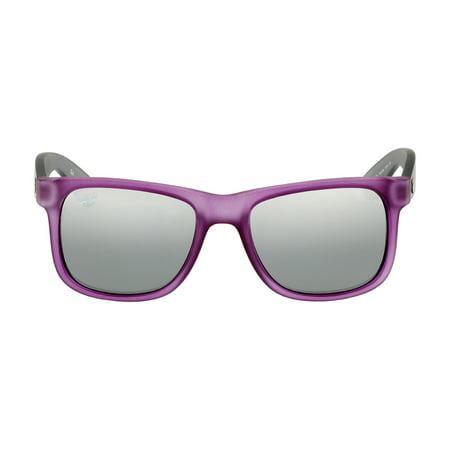 Ray-Ban Justin Nylon Frame Silver Mirror Gradient Lens Unisex Sunglasses RB4165