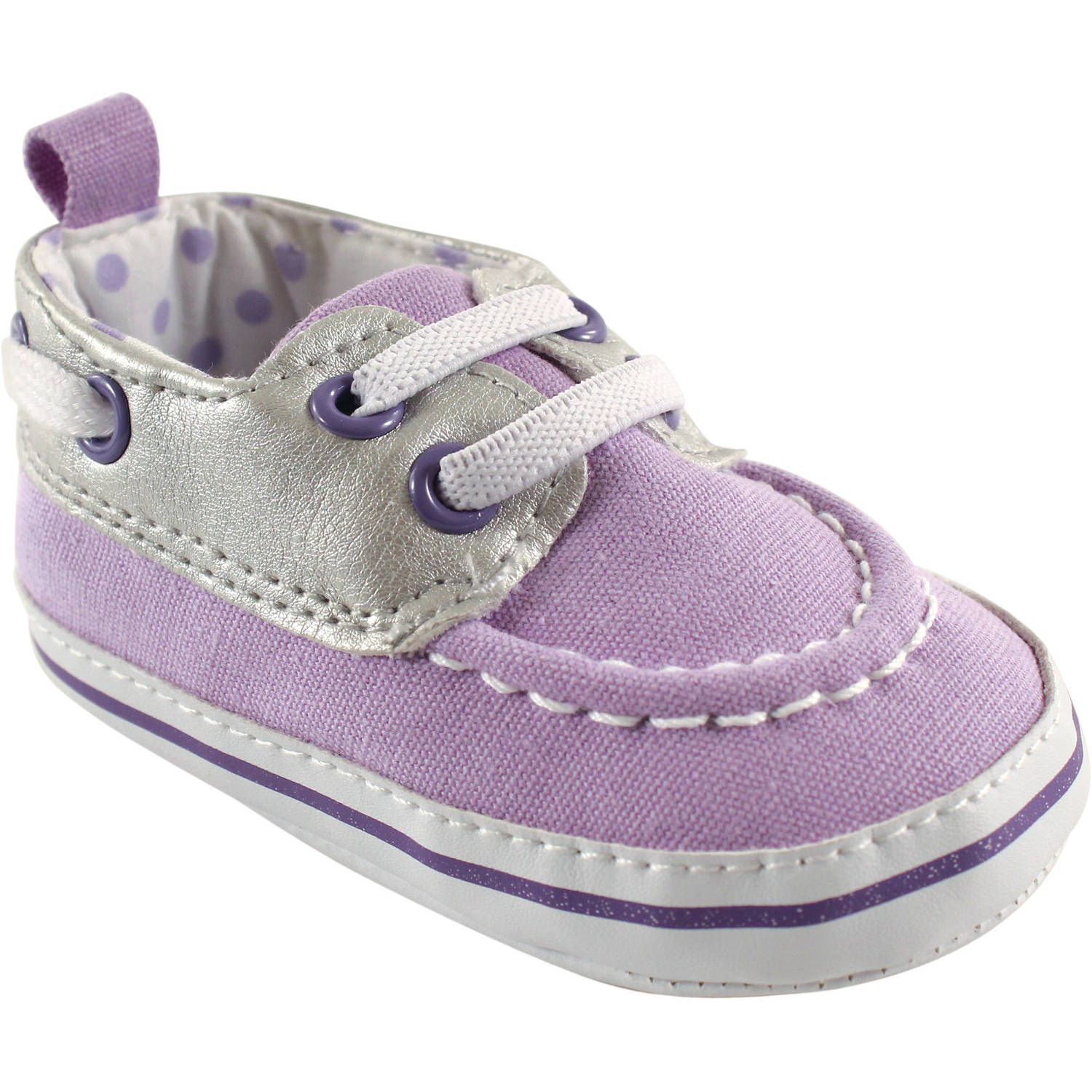 Luvable Friends Newborn Baby Girls Boat Shoes