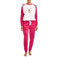 Deals on Great Christmas Women's Super Plush Christmas Holiday Pajama Set