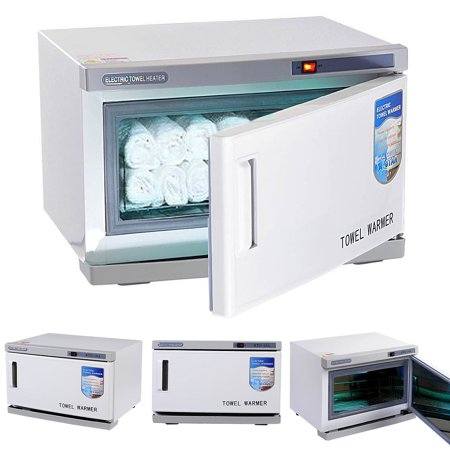 (Costway 2 in 1 Hot UV Sterilizer Towel Warmer Cabinet Spa Beauty Salon Equipment 16L)