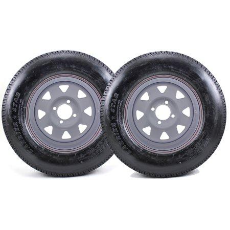 - 2 Pack - ST175/80D13 Carrier Star Tire LRB on 4 Bolt White Spoke Wheel