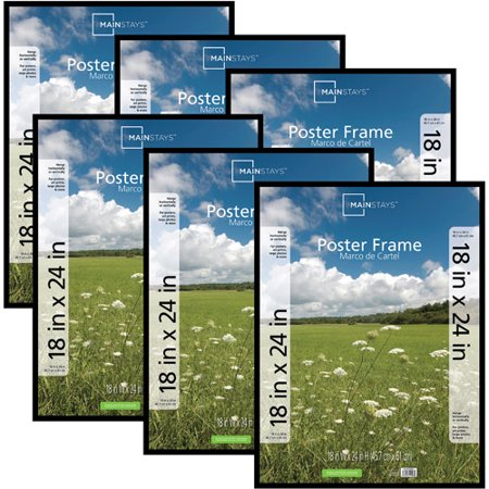 mainstays 18x24 basic poster picture frame black