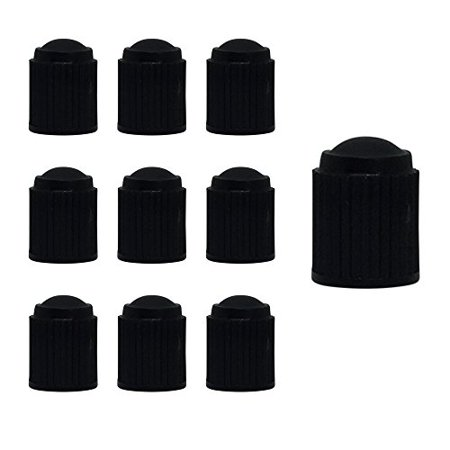 Moxie 10pc Bike Bicycle Road Racing Colored Black Schrader Valve Cap Dust Plastic Covers Plastic Dust Cup