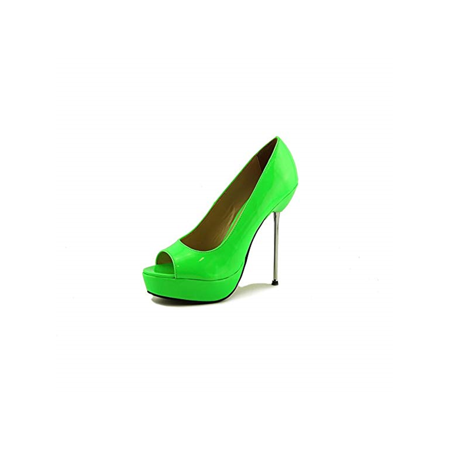 5'' Micro Stiletto Steel Heel Open Toe Pump