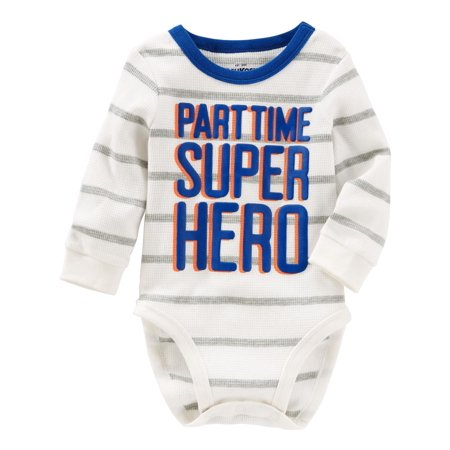 OshKosh B'gosh Baby Boys' Super Hero Thermal Bodysuit](Baby Super Hero)