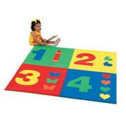 60 in. 1-2-3-4 Square Mat in Multicolor