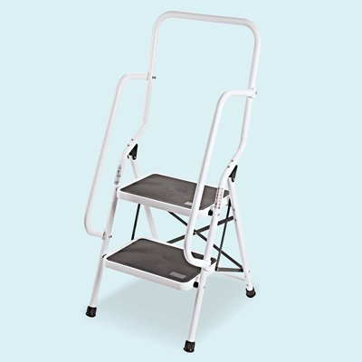Safety Genius 2 Step Ladder Folding Stool Walmart Com