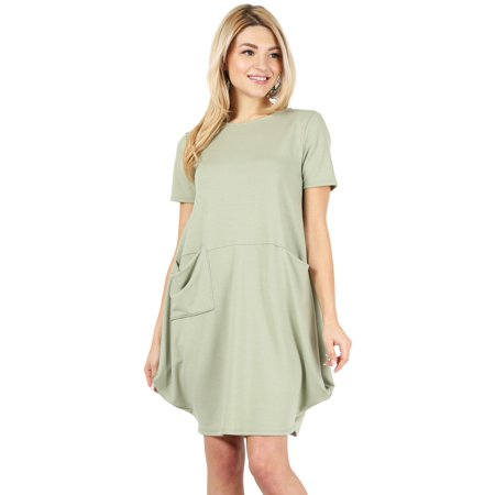 Bubble Dress with pockets for Women Short Sleeve Reg and Plus Size Loose Dress - Made in USA