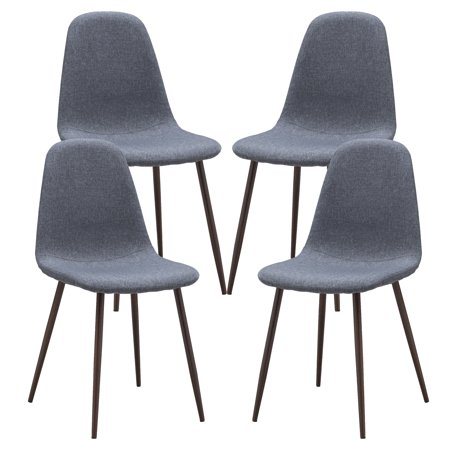 Poly and Bark Skagen Dining Chair with Walnut Legs (Set of 4)