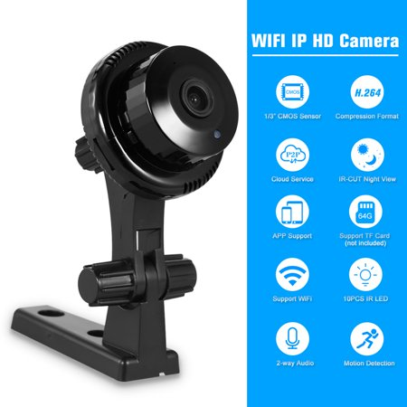 WIFI Camera HD 720P 1.0MP IP Cloud Camera 10pcs IR Lamps CCTV Surveillance Security Network PTZ Camera Support Cloud Storage P2P for Android/iOS APP IR-CUT Filter Infrared Night View Motion