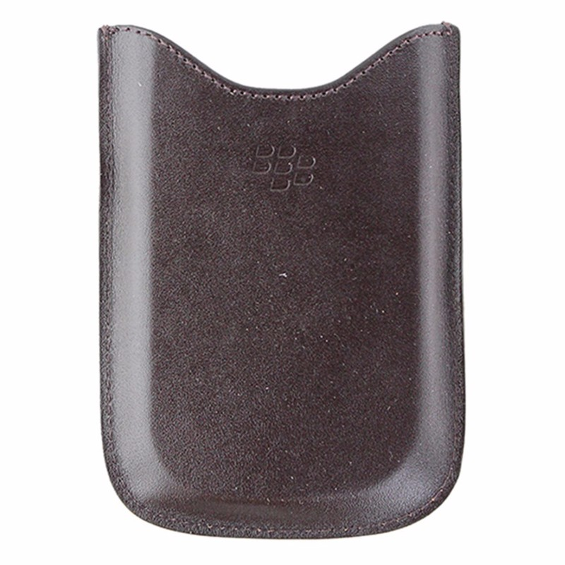 BlackBerry Leather Pouch for BlackBerry Bold 9000 - Dark Brown