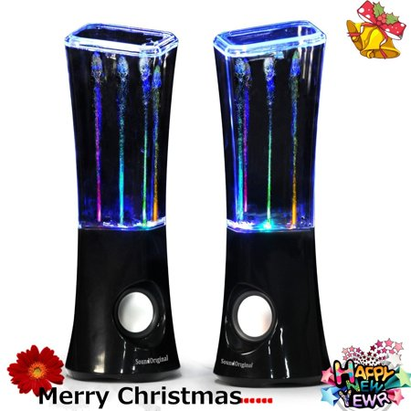9 250 Watt Speaker - SoundOriginal 6 Watt Dancing Water Stereo Speakers _Black_