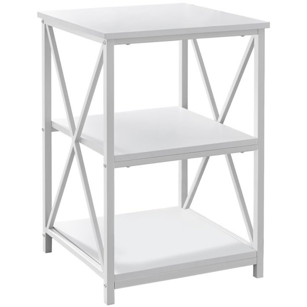 "ACCENT TABLE - 26""H / WHITE/ WHITE METAL - Walmart.com - Walmart.com"