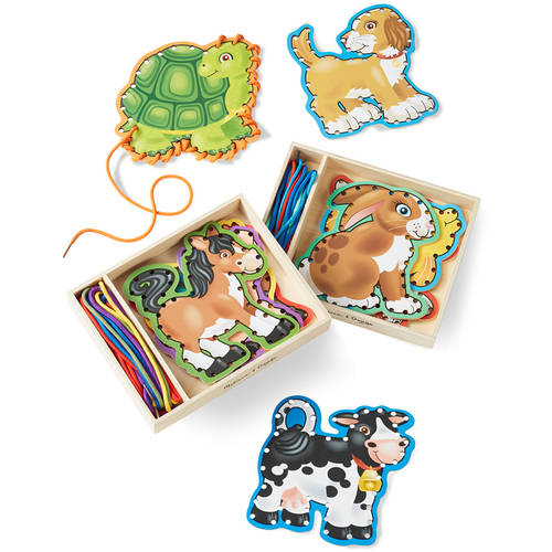Melissa & Doug Lace and Trace Set of 2: Pets and Farm Animals