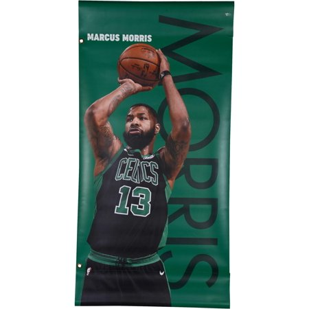 """Marcus Morris Boston Celtics Event-Used Green Banner from the 2018 NBA Playoffs - Size - 47"""" x 24 - Fanatics Authentic Certified"""