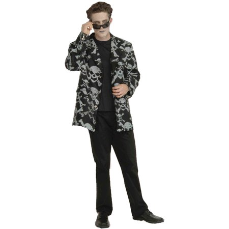 Skull And Bones Sport Jacket Adult Halloween Costume - Sports Team Halloween Costume Ideas