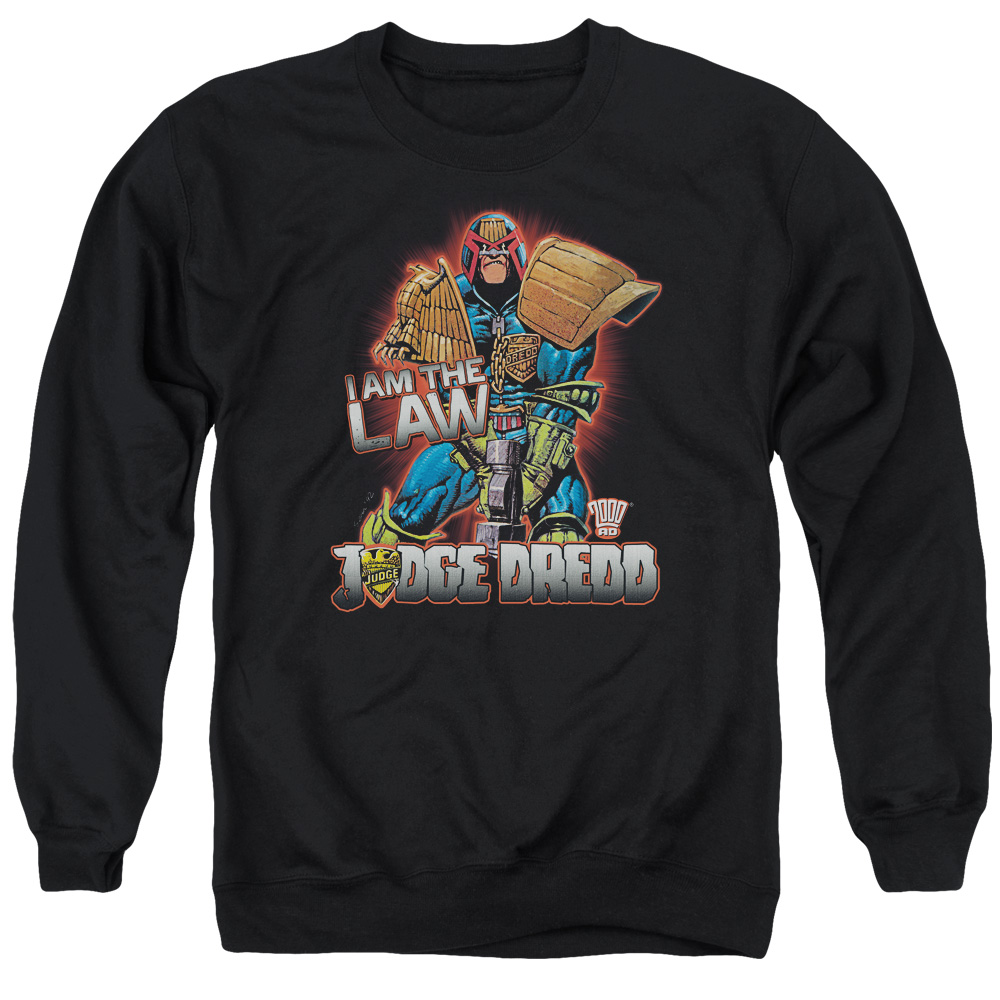 Judge Dredd Police Comic Book I Am the Law 2000 AD Adult Crewneck Sweatshirt