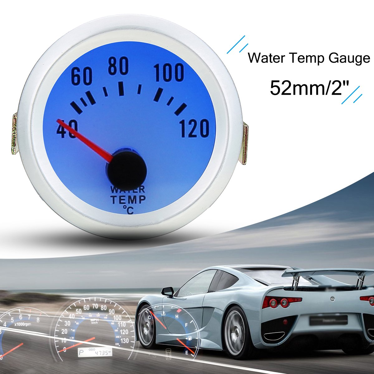 2 inch 52mm Universal Car Auto Vehicle Water Temperature
