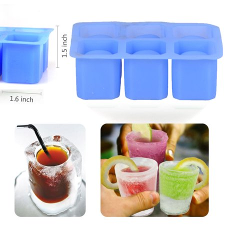 6-Cups Silicone Ice Cube Glass Shot Freeze Jello Molds Maker Cool Shooters - Jello Shooters For Halloween